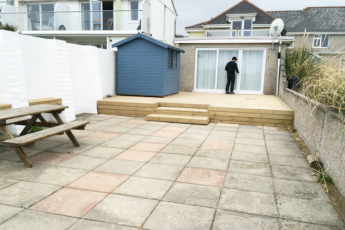 sandy beach renovation landscaping coastal construction north cornwall building builders padstow